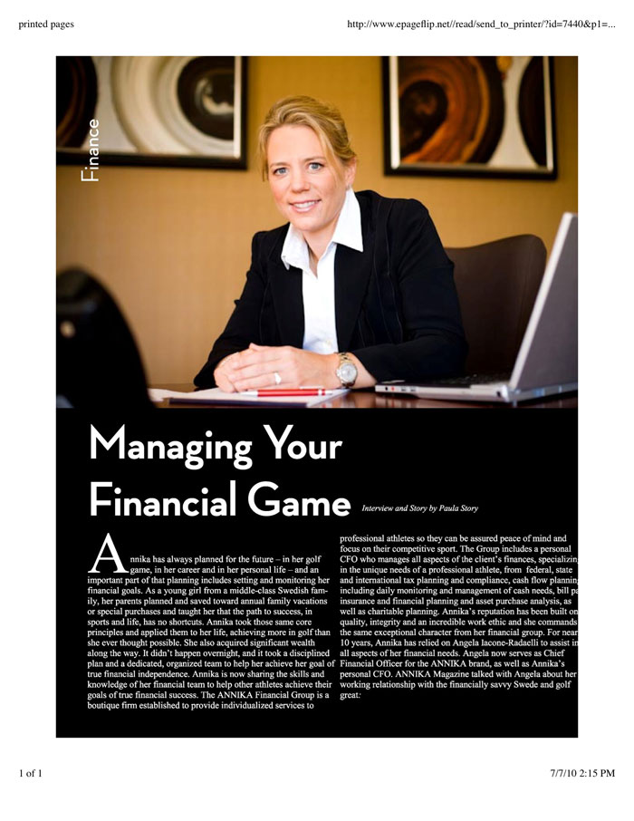Managing Your Financial Game